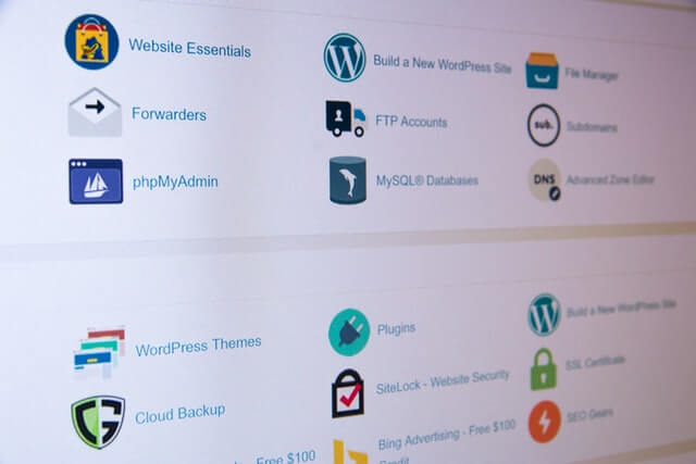 Assorted WP plugins on a laptop screen