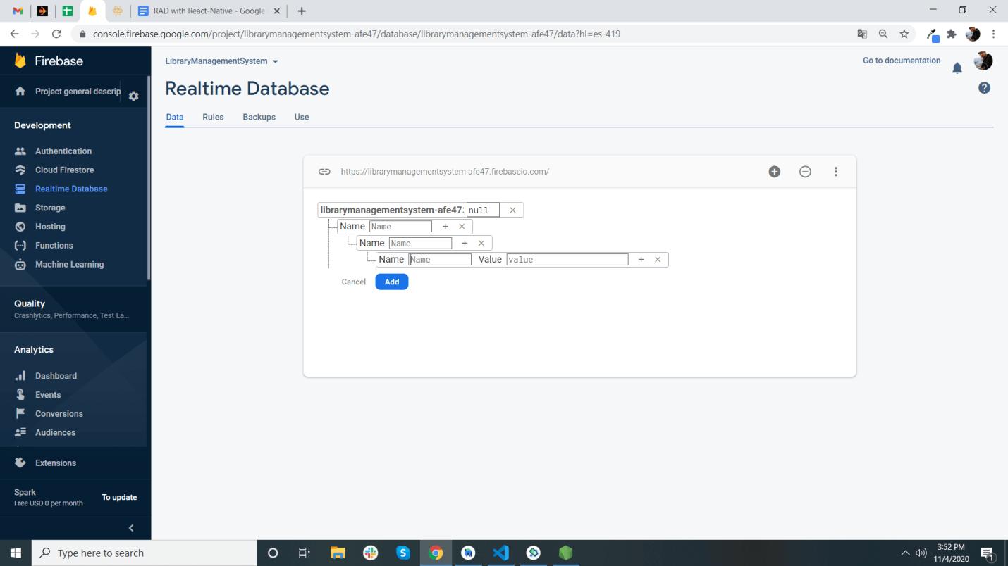 Cloud-Firestore, Realtime Database, Storage